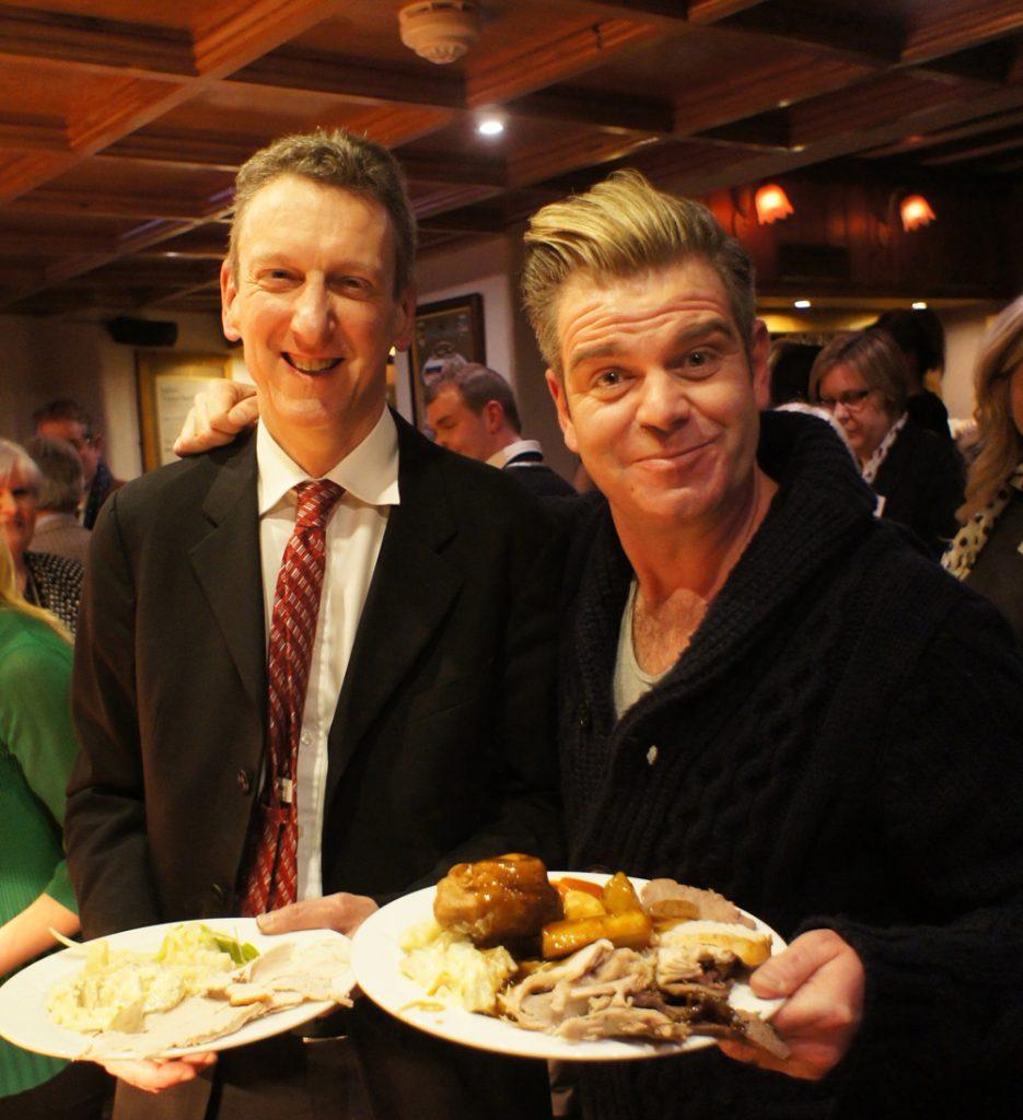 Ollie Hughes AKA Robbie WEillaims enjoys a Punch Bowl AGA carvery with AGA CEO William!