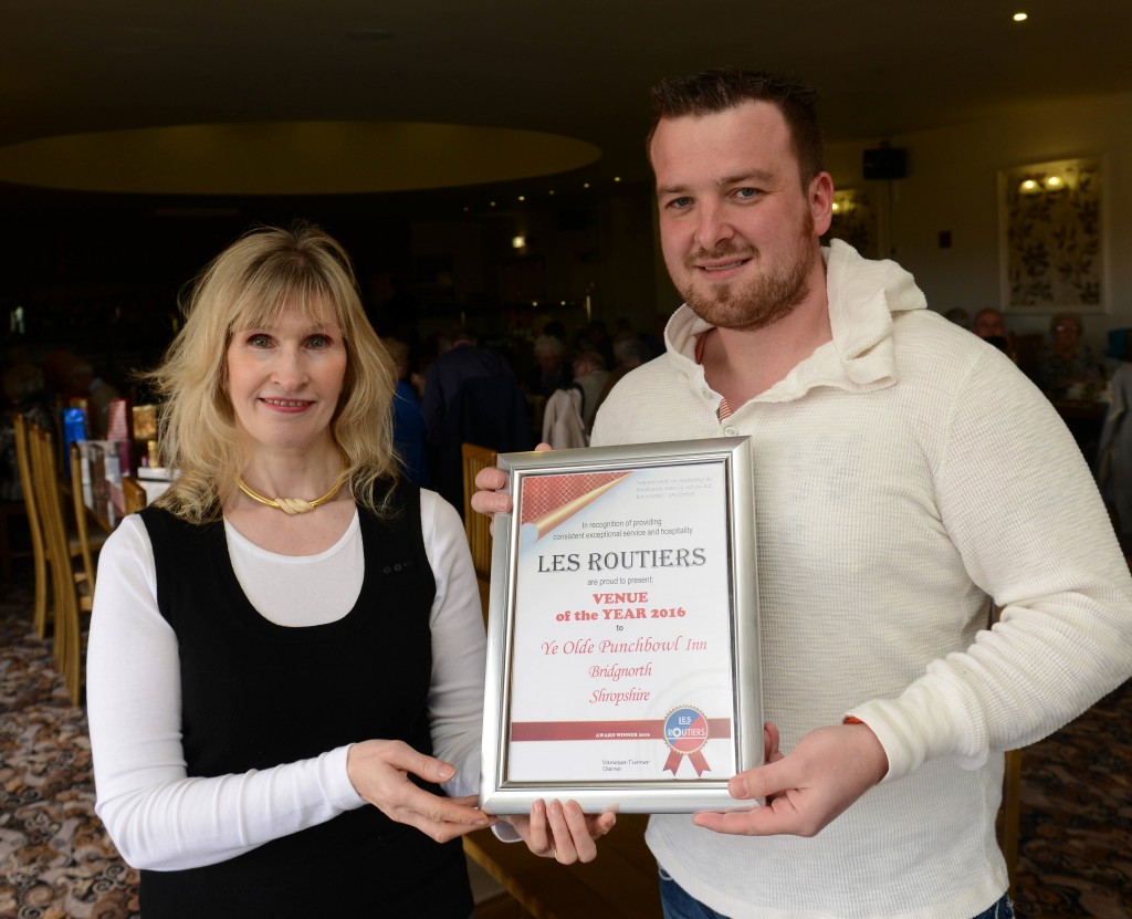 Punch Bowl Inn Owner Adam Giles Venue Of The Year presented by Tina Griffiths