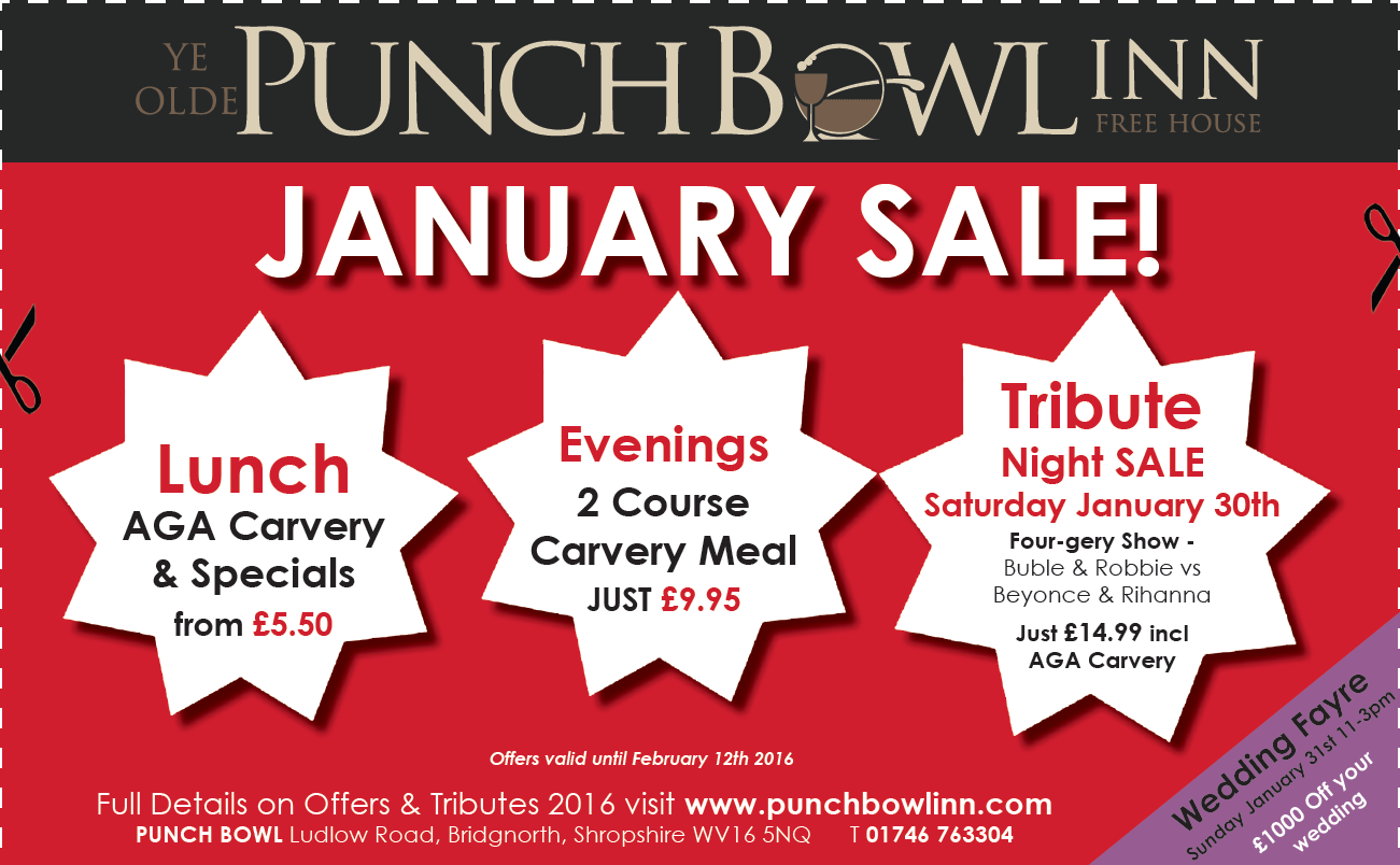 Punch Bowl January Sale