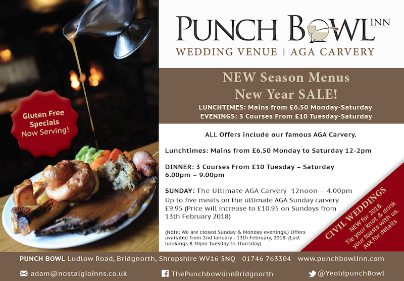 Punch Bowl Inn January Sale 2018